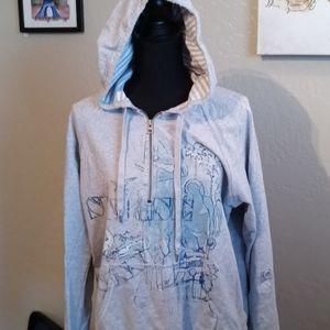 The Gap Unisex Gray Hooded Sweatshirt